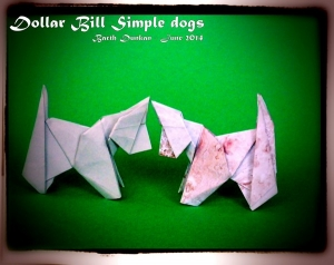 Origami Dollar Bill Simple Dog by Barth Dunkan