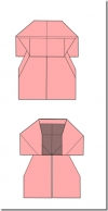 Dress/Business Dress With Jacket Origami Transformer