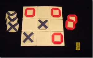 Origami Tic Tac Toe Game Set