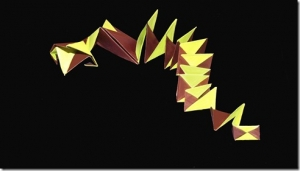 """""""Swick"""" An Origami Snake – Inspired by A. Brills's Curlicue"""