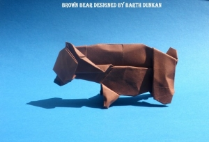 Origami Brown Bear