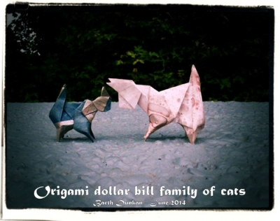 Origami Dollar Bill Simple Cat by Barth Dunkan