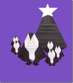 Minimalist Christmas Tree or Penguin � An Origami Transformer