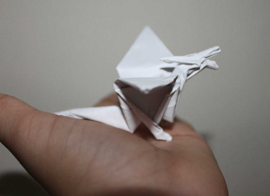 how to make cool origami dragon